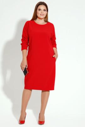 Платье Панда 13880z красный