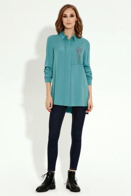 Блуза Панда 3140z бирюзовый