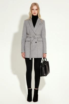 Пальто Панда 5870z серый