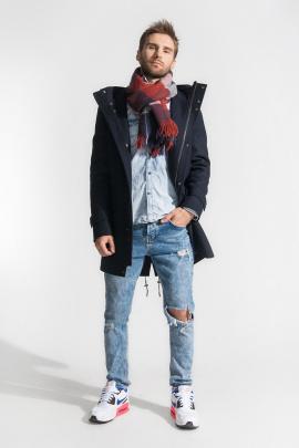Пальто Gotti 061-1у темно-синий