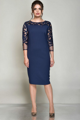 Платье Faufilure outlet С689 синий