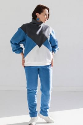 Брюки, Джемпер LucyCo 125 голубой