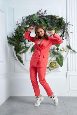 Женский костюм Anastasia 580 лосось
