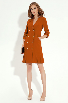 Платье Панда 13780z горчичный