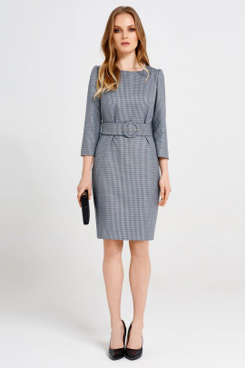 Платье Панда 36780z серо-голубой