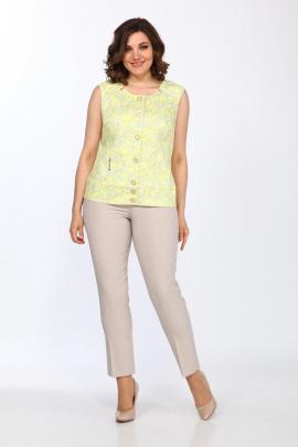 Женский костюм Lady Style Classic 711 бежево-желтый