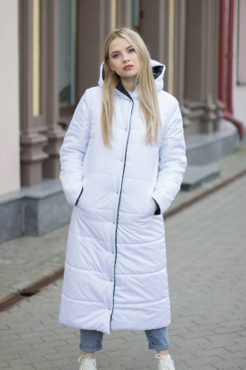 Пальто Sisteroom П-044 черно-белый