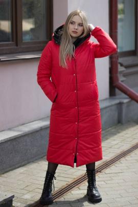 Пальто Sisteroom П-044 черно-красный