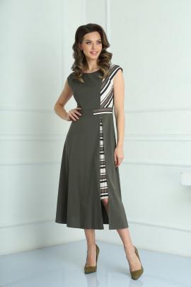 Платье SandyNa 13976 хаки-зеленый