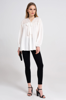 Блуза Панда 34540z молочный