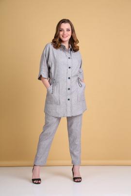 Женский костюм Andrea Style 0378 серый