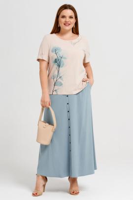 Блуза, Юбка Панда 38210z бежево-бирюзовый