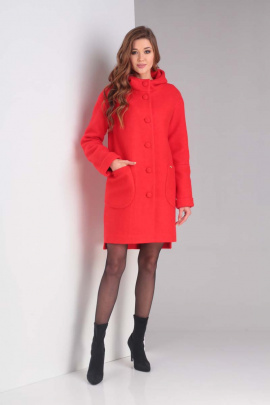Пальто Diamant 1370 красный