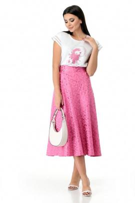 Блуза, Юбка Мишель стиль 943 розово-белый