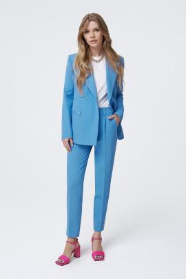 Женский костюм PiRS 1005 голубой-белый