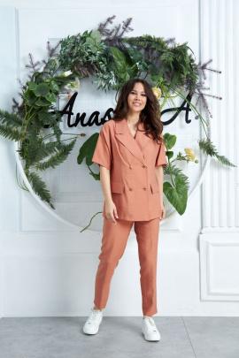 Женский костюм Anastasia 637 св.терракотовый