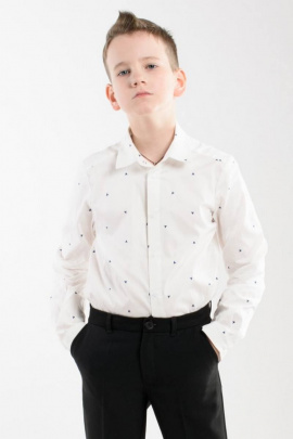 Рубашка Weaver 8073 молочный_принт