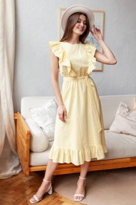 Платье KRASA 208-21 желтый