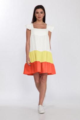Платье Faufilure С1185 оранжевый