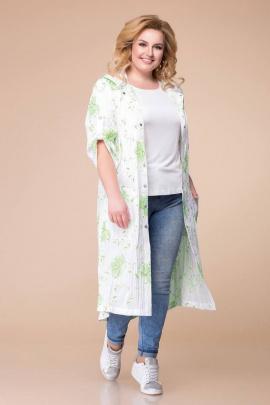 Кардиган Romanovich Style 9-1646 белый/зелень