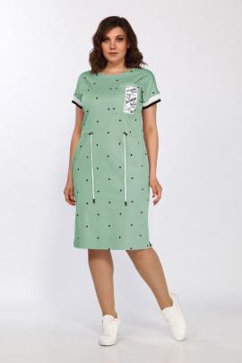 Платье Lady Style Classic 2277/2 мята-горох