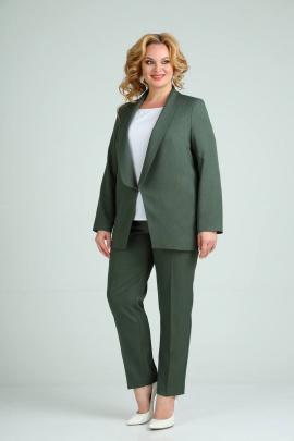 Брюки, Жакет, Топ SVT-fashion 526 зеленый