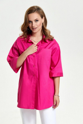 Рубашка TEZA 2639 фуксия