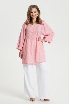 Женский костюм TEZA 2654 розовый-белый