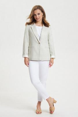 Женский костюм TEZA 2662 олива_мелкая_ клетка+белый