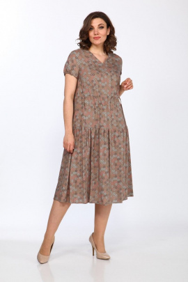 Платье Lady Style Classic 2298/1 коричневый