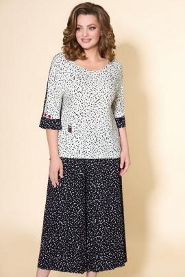 Блуза, Кюлоты DaLi 2566 черно-белый