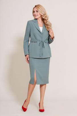 Женский костюм Mubliz 577 серо-голубой