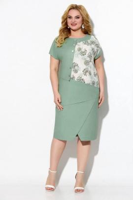 Платье Koketka i K 857-1 серебро+зеленый