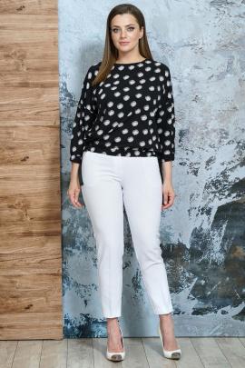 Брюки, Блуза Белтрикотаж 4347 белый-черный