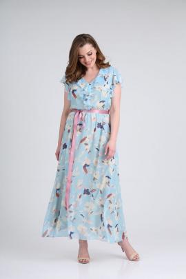 Платье GALEREJA 646 голубой