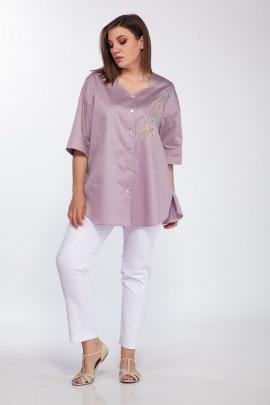 Рубашка ELLETTO 3491 лаванда