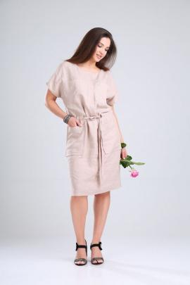 Платье MALI 421-063 бежевый