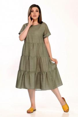 Платье FOXY FOX 304/1 хаки_однотон