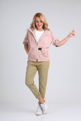 Брюки, Куртка Danaida 2024 розовый+хаки