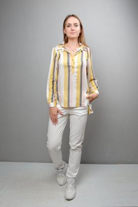 Блуза Mita ЖМ999А желто-серо-розовая
