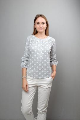 Блуза Mita КМ350 серый_горох