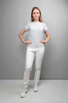 Блуза Mita КМ390 серый_горох