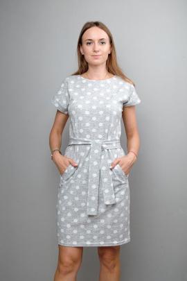 Платье Mita КМ401 серый_горох