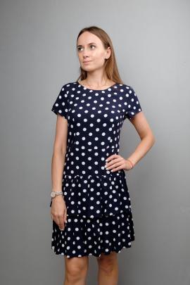 Платье Mita ЖМ1044 синий_горох