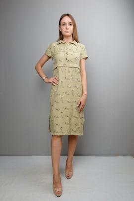 Платье Mita ЖМ1050 светлый-хаки