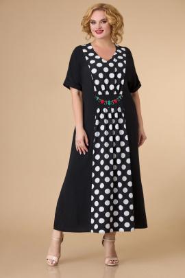 Платье Svetlana-Style 1591 черный+белый_горох