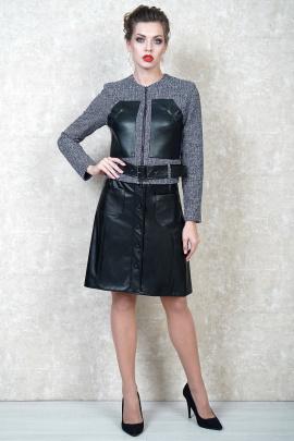 Женский костюм БАГРЯНИЦА 3018 серый/черный