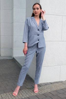 Женский костюм Ivera 6004 черный, серый