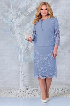 Жакет, Платье Ninele 5854 голубой