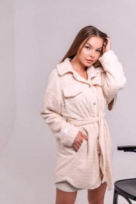Пальто La Stella SL21-5-02 кремовый
